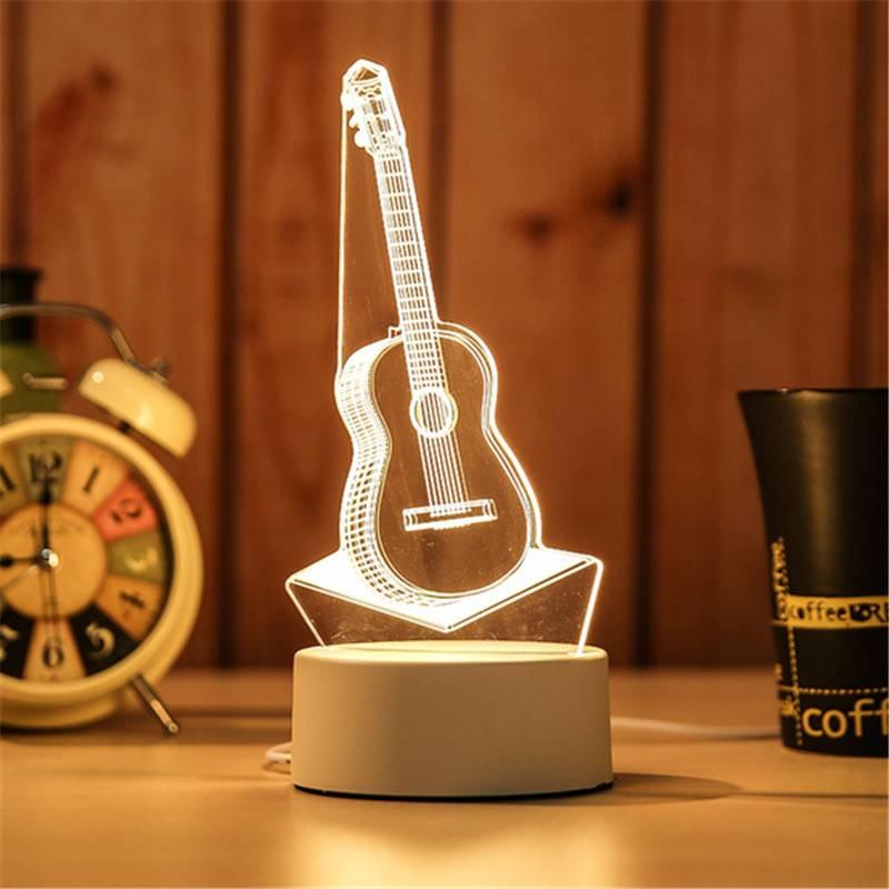 Đèn ngủ 3D hình cây đàn guitar